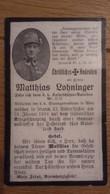Sterbebild Wk1 Ww1 Bidprentje Avis Décès Deathcard KUK Kaiserschützen Batl. II Italien Italia 31. Januar 1918 Aus Wels - 1914-18
