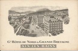 AIX-LES-BAINS.   Gd. HÔTEL DU NORD & GRANDE BRETAGNE  (scan Verso) - Aix Les Bains