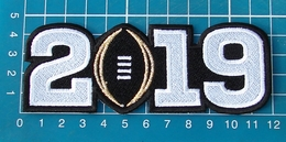 NCAA College Football Black 2019 CFP Championship Game Alabama Patch Embroidered - Habillement, Souvenirs & Autres
