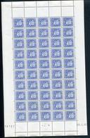 ANDORRE - N° 51 - FEUILLE ENTIÉRE DE 50 TP - CD 28/2/42 - LEGERES ROUSSEURS / PERIPHERIE TP NON TOUCHÉS - Unused Stamps