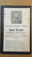 Sterbebild Wk1 Ww1 Bidprentje Avis Décès Deathcard KUK Landsturm GEBIRGSTRAIN RUHR FUGNES Aus Mörschwang - 1914-18