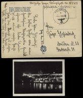 WW II DR Übung Feldpost Postkarte AK Prag: Gebraucht Übungspost FP Nr. 109749 - Dresden 1.4.1939 , Bedarfserhaltung. - Briefe U. Dokumente