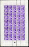 ANDORRE - N° 93 - FEUILLE ENTIÉRE DE 50 TP - CD 4/4/46 - LEGERES ROUSSEURS / PERIPHERIE TP NON TOUCHÉS - Unused Stamps