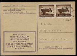 WW II DR Wehrmacht II Sturmboot MeF Auf Postkarte : Gebraucht Saarbrücken - Dudweiler 1944, Bedarfserhaltung. - Deutschland