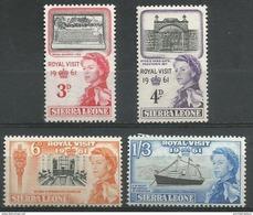 Sierra Leone  - 1961 Royal Visit Set Of 4 MNH **   Sc 221-4 - Sierra Leone (1961-...)