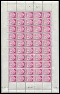 ANDORRE - N° 94 - FEUILLE ENTIÉRE DE 50 TP - CD 24/10/44 - SUP - Neufs