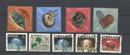 Lote De 9 Sellos. Minerales Y Fósiles. - Minerales