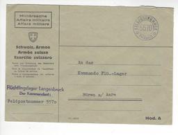 LANGENBRUCK FLUCHTLINGSLAGER WW2 SUISSE INTERNES CAMP INTERNEMENT /FREE SHIP. R - Marcofilie