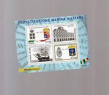 Italia Repubblica 2011 Foglietto N 80 Istituzione Marina Militare - 6. 1946-.. Repubblica