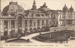 MONTE-CARLO. - La Façade Du Casino. - Front Of The Casino.  (scan Verso) - Monte-Carlo