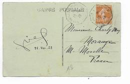 1928 - MARITIME - CARTE De DJIBOUTI => MORANGE Avec OBLITERATION MARSEILLE à YOKOHAMA N°4 - Côte Française Des Somalis (1894-1967)