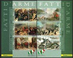 Italia Repubblica 2011 Foglietto N 82 83 Fatti D'arme - 6. 1946-.. Repubblica