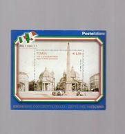 Italia Repubblica 2011 Foglietto N 69 Unità D'Italia Emissione Congiunta Vaticano - 6. 1946-.. Repubblica
