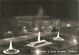 TIVOLI - FONTANE DI LARGO GARIBALDI - NOTTURNO - FORMATO GRANDE - VIAGGIATA 1958 - (rif. E69) - Tivoli