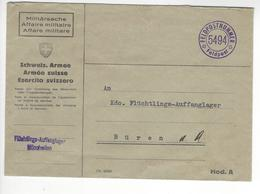 MUNCHWILEN FLUCHTLINGS AUFFANGLAGER WW2 SUISSE INTERNES CAMP INTERNEMENT /FREE SHIP. R - Marcophilie