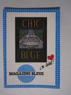 1991 PETIT CALENDRIER EN 2 VOLETS MAGASINS BLEUS CHIC And BLUE ON AIME AGENCE DE DIJON - Calendriers