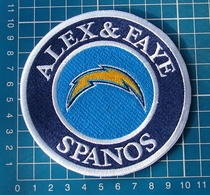ALEX & FAYE SPANOS PATCH SAN DIEGO CHARGERS LOS ANGELES MEMORIAL PHILIP RIVERS - San Diego Chargers