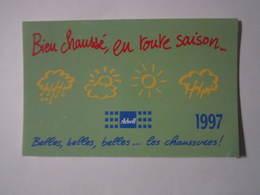 1997 PETIT CALENDRIER EN 2 VOLETS ARBELL LES CHAUSSURES ! - Calendriers
