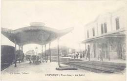 Cpa 84 – Sorgues – La Gare – Ed. Blanc, Tabacs - Sorgues