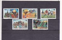 Lesotho Oblitéré  1980  N° 395/399     Sport.  Jeux Olympiques De Moscou - Lesotho (1966-...)
