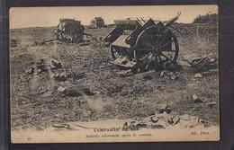 CPA GUERRE 1914-18 - CAMPAGNE DE 1914 - Batterie Allemande Après Le Combat - TB PLAN CANON - Weltkrieg 1914-18