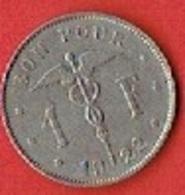 BELGIUM  # 1 FRANC  FROM 1922 - 1909-1934: Albert I