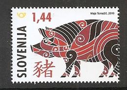 SLOVENIA 2019,CHINEZE HOROSCOPE,YEAR OF THE PIG,,MNH, - Slovénie