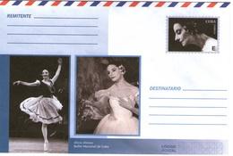 Cuba Kuba Intero Postale Alicia Alonso Balletto Nazionale Preaffrancato Illimitato - Posta Aerea