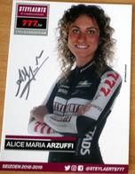 Cyclisme - Carte Féminine Alice Maria ARZUFFI Cyclo-Cross 2019 Signée - Ciclismo