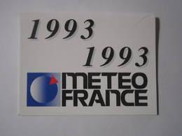 1993 PETIT CALENDRIER EN 2 VOLETS METEO FRANCE Sur MINITEL 3615 Code METEO - Calendriers