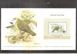 Merrill's Fruit Dove - Stamp From Philippines - XX/MNH - Pigeons & Columbiformes