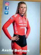 Cyclisme - Carte Féminine Axelle BELLAERT Cyclo-Cross 2019 - Ciclismo