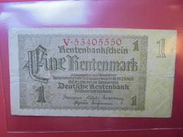 Rentenmarkscheine :1 MARK 1937 - [ 3] 1918-1933 : República De Weimar