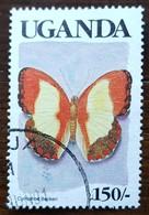 Ouganda - YT N°616 - Faune / Papillon - 1989 - Oblitéré - Ouganda (1962-...)