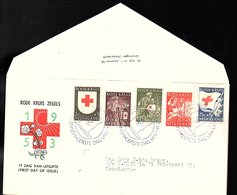 1953 E14 Red Cross OPEN KLEP (CK-30) - FDC