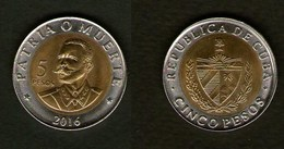 Cuba Kuba Moneta Bimetallica 5 Pesos 2016 - Cuba
