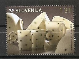 SLOVENIA 2019,ARTS AND KRAFTS,CENTEMPORARY PORCELAIN DESIGN,CUP,NIKA STUPICA,,,MNH, - Slovénie