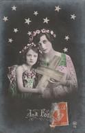 Femmes : Femme Et Enfant Dans La Nuit étoilée : La Foie - Art Nouveau - - Mujeres