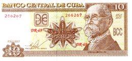 Cuba Kuba Banconota 10 Pesos Maximo Gomez - Cuba