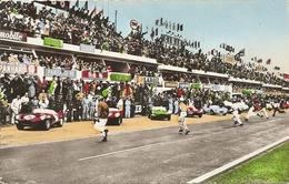 Cpsm  Le Mans Circuit De La Sarthe Le Depart  De La Course En 1962 - Le Mans