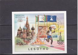 Lesotho Oblitéré  1980  Bloc N° 5    Sport. Jeux Olympiques De Moscou - Lesotho (1966-...)