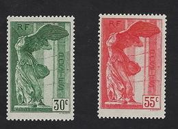 Victoire De Samothrace N° 354/355 Neufs Trace De Charnière Légère,cote 170€, Très Beaux - Neufs