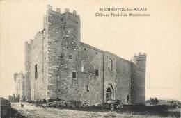 CPA 30  Gard Alais St Christol Lès Alès Chateau Féodal De Montmoirac Automobile Cabriolet 1931 RARE - Alès