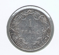 ALBERT I * 1 Frank 1911 Frans * Z.Fraai * Nr 9739 - 07. 1 Franc