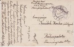 Österreich Austria KuK Kriegsmarine SMS Zrinyi Feldpost Kte Pola Pula 1917 - Storia Postale