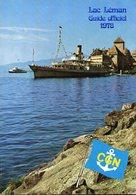 LAC  LEMAN -  GUIDE  OFFICIEL 1978 - Compagnie Générale De Navigation (Publicité Rolex Au Dos) - Tourisme