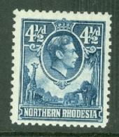 Northern Rhodesia: 1938/52   KGVI     SG37   4½d     MNH - Rhodésie Du Nord (...-1963)