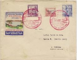 Historia Postal  Carta San Sebastián- Melilla   1948    NL1319 - 1931-Today: 2nd Rep - ... Juan Carlos I