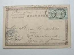 1904 ,  SHANGHAI , Klarer Stempel Auf Karte Aus Hongkong - Chine