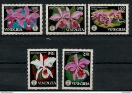 Venezuela- 1971 Orchids Set Of 5 MNH **   Sc C1055-9 - Venezuela